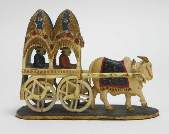 Ivory - Carving Ox Cart  - photo 1