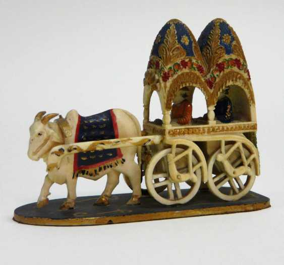 Ivory - Carving Ox Cart  - photo 2