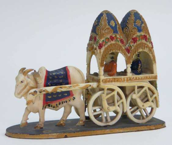 Ivory - Carving Ox Cart  - photo 3