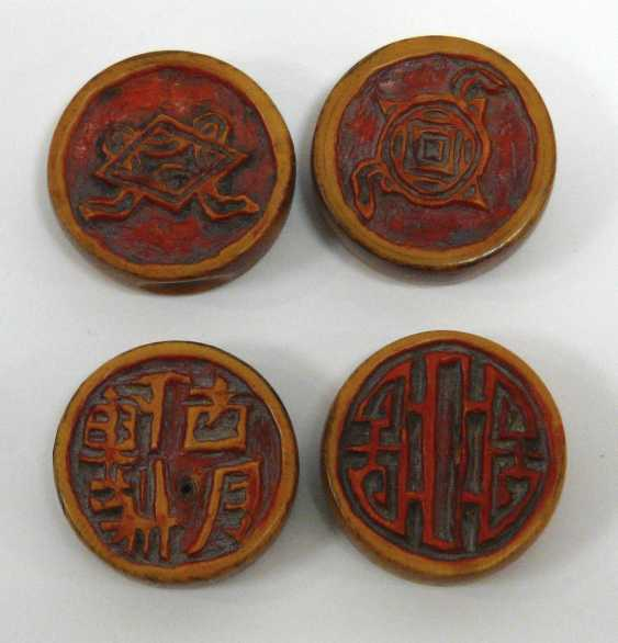 Four Chinese Xiangqi game stones - photo 1