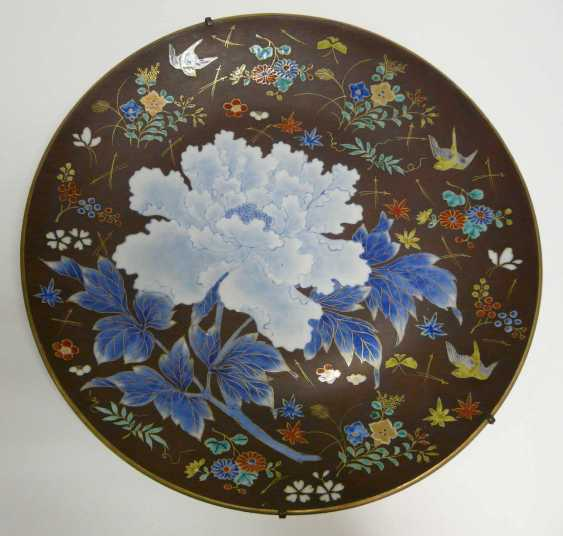 Large Chinese porcelain plate 1900's - photo 1