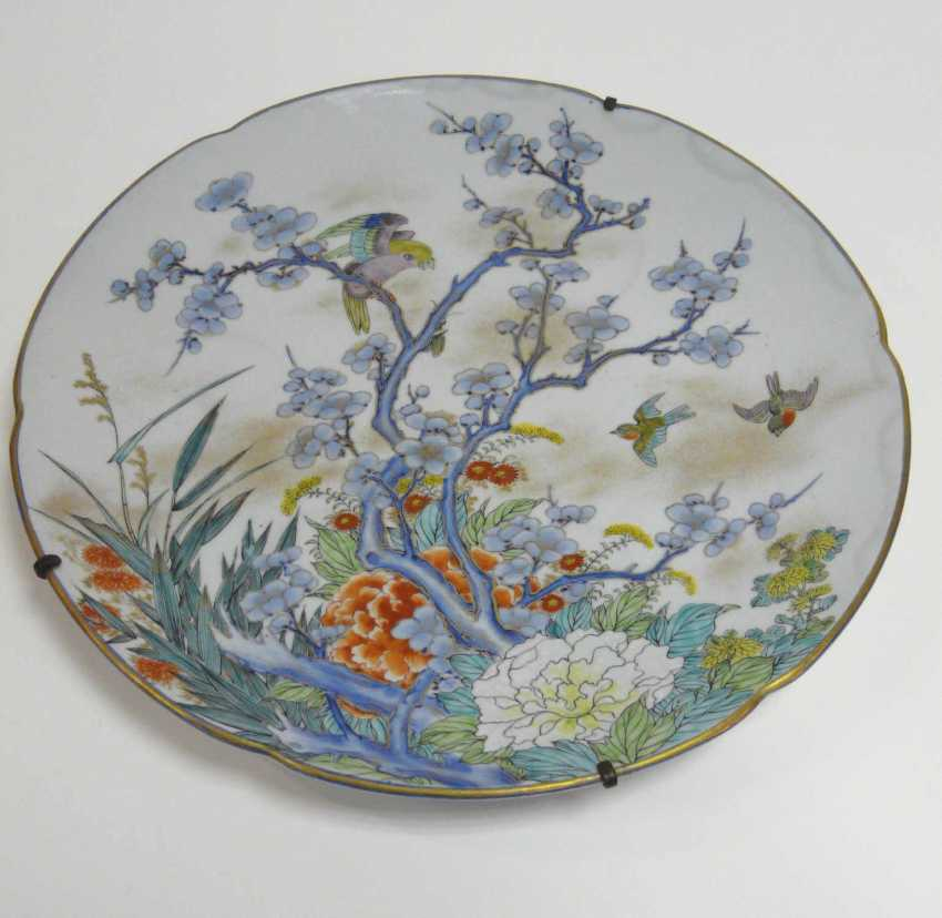 Large Chinese porcelain plate  - photo 1