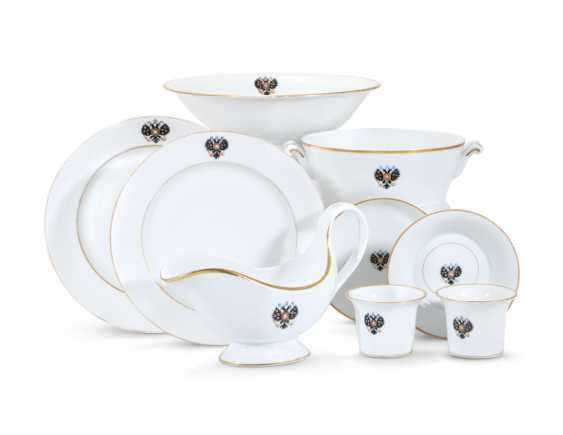 A GROUP OF PORCELAIN TABLEWARE FROM THE ALEXANDER III CORONATION SERVICE - photo 1