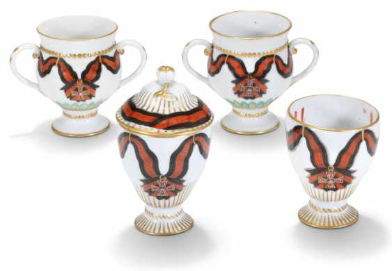 FOUR PORCELAIN CUPS FROM THE SERVICE OF THE ORDER OF ST VLADIMIR - photo 1