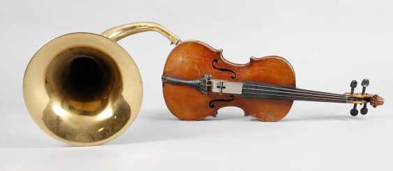 Violin with a horn - photo 1