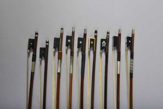Collection of nine violin bows - photo 2
