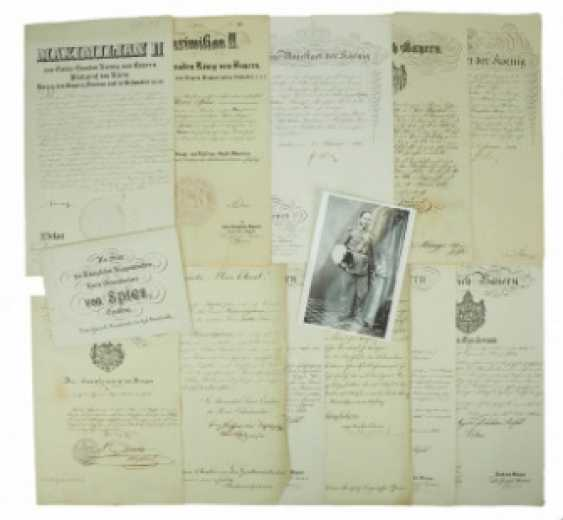 Bavaria: documents of the estate of the Minister of war and major-General Moritz Ritter von Spies