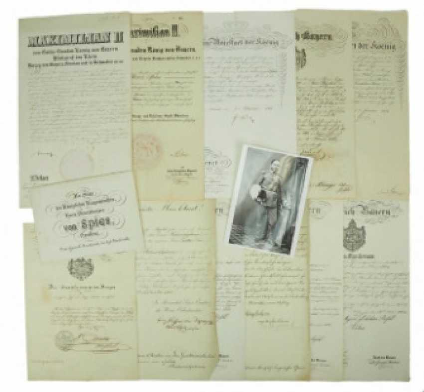 Bavaria: documents of the estate of the Minister of war and major-General Moritz Ritter von Spies - photo 1