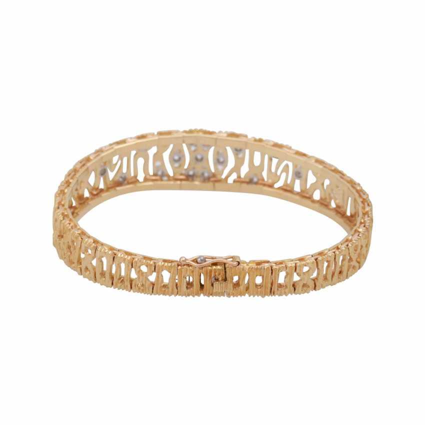 Bracelet, set with 15 brilliant-cut diamonds, together CA. 0,30 ct. - photo 2