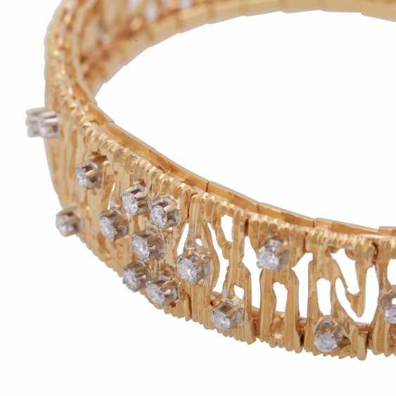 Bracelet, set with 15 brilliant-cut diamonds, together CA. 0,30 ct. - photo 5