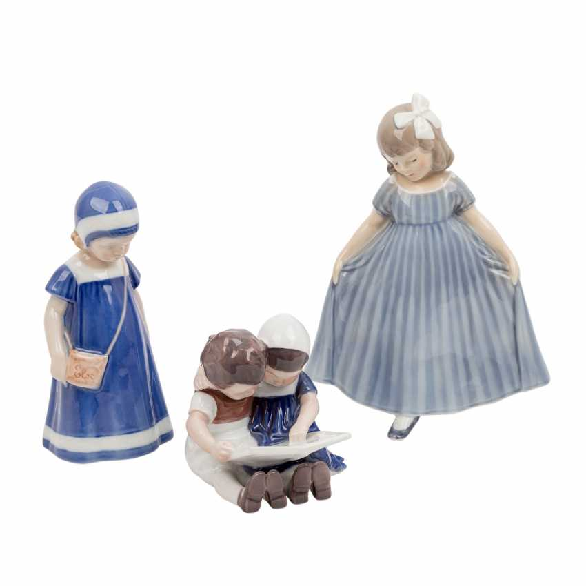 "DANISH PORCELAIN ""Three porcelain figurines"" - photo 1"