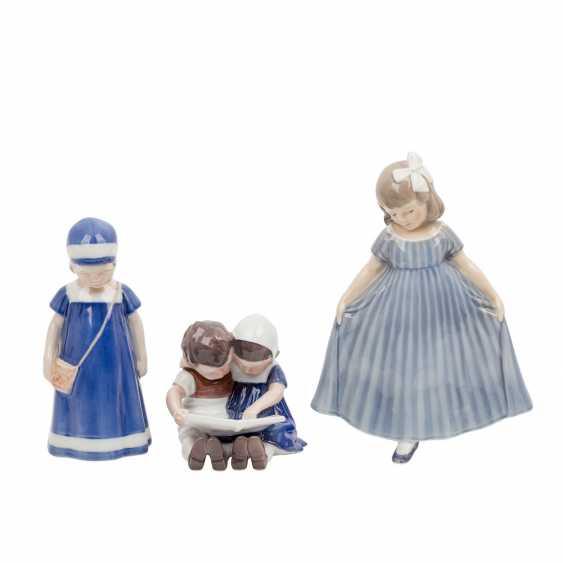 "DANISH PORCELAIN ""Three porcelain figurines"" - photo 2"