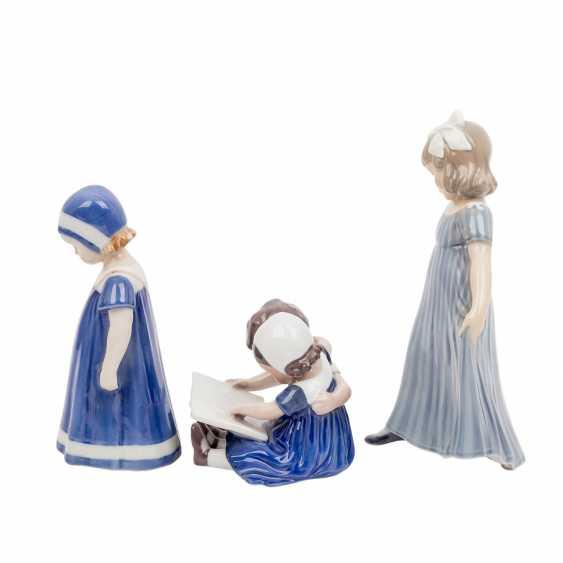 "DANISH PORCELAIN ""Three porcelain figurines"" - photo 3"