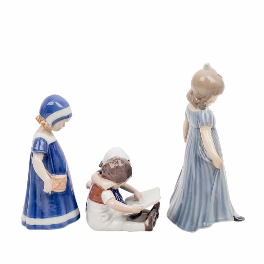 "DANISH PORCELAIN ""Three porcelain figurines"" - photo 5"