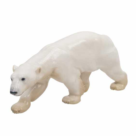 "BING & GRONDAHL porcelain figure ""running polar bear"" - photo 1"