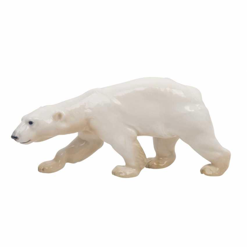 "BING & GRONDAHL porcelain figure ""running polar bear"" - photo 2"
