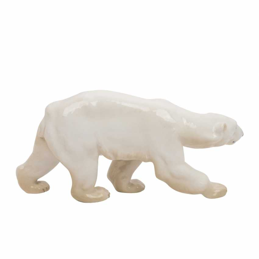 "BING & GRONDAHL porcelain figure ""running polar bear"" - photo 4"