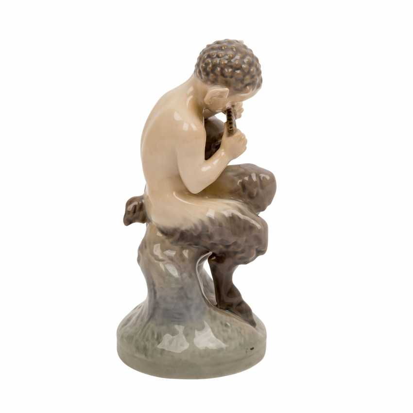 "ROYAL COPENHAGEN porcelain figurine ""Faun with owl"" - photo 4"