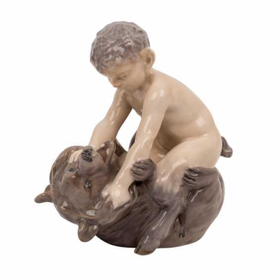 "ROYAL COPENHAGEN porcelain figurine ""Faun with bear"" - photo 1"