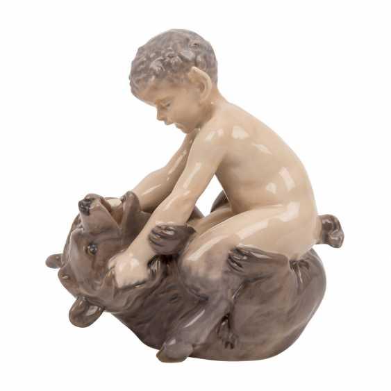 "ROYAL COPENHAGEN porcelain figurine ""Faun with bear"" - photo 2"