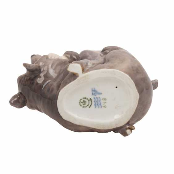 "ROYAL COPENHAGEN porcelain figurine ""Faun with bear"" - photo 6"