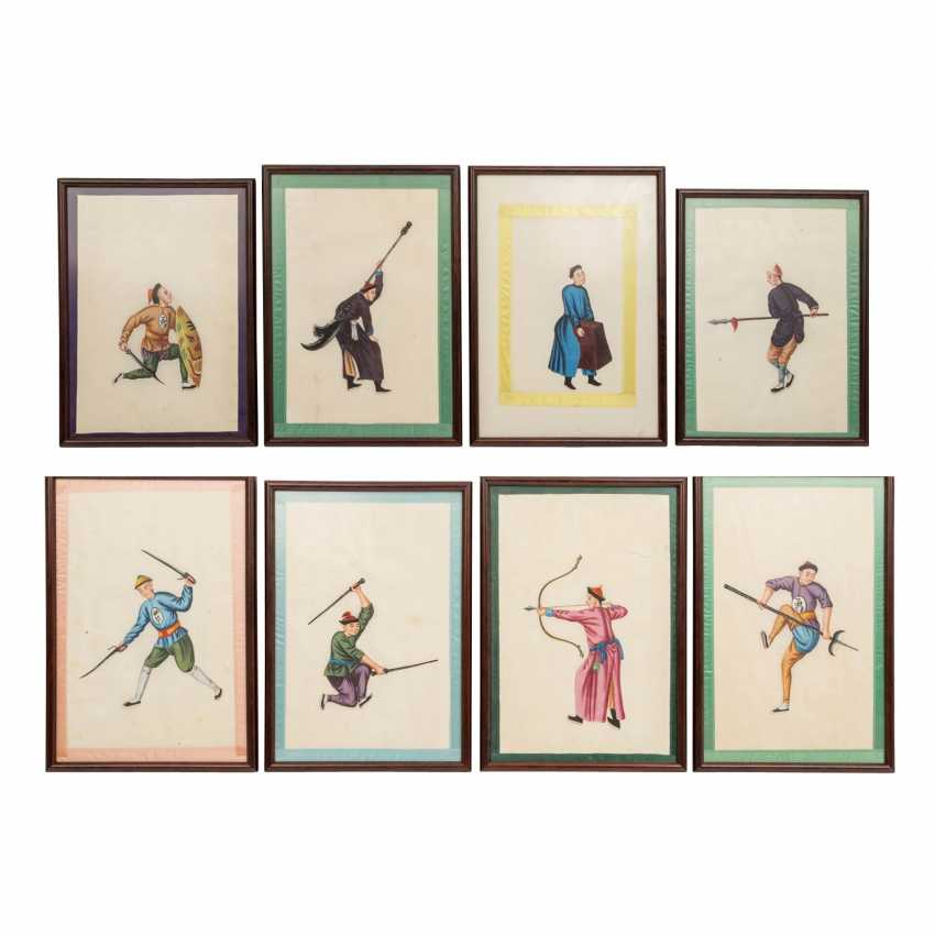 Sequence of 8 paintings. CHINA, around 1920. - photo 1