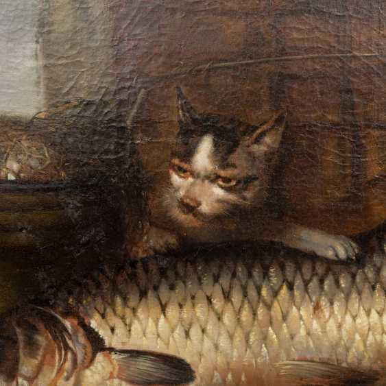 """PAINTER/17./18. Century, """"still life with fish, oysters, and onions"""", - photo 4"""