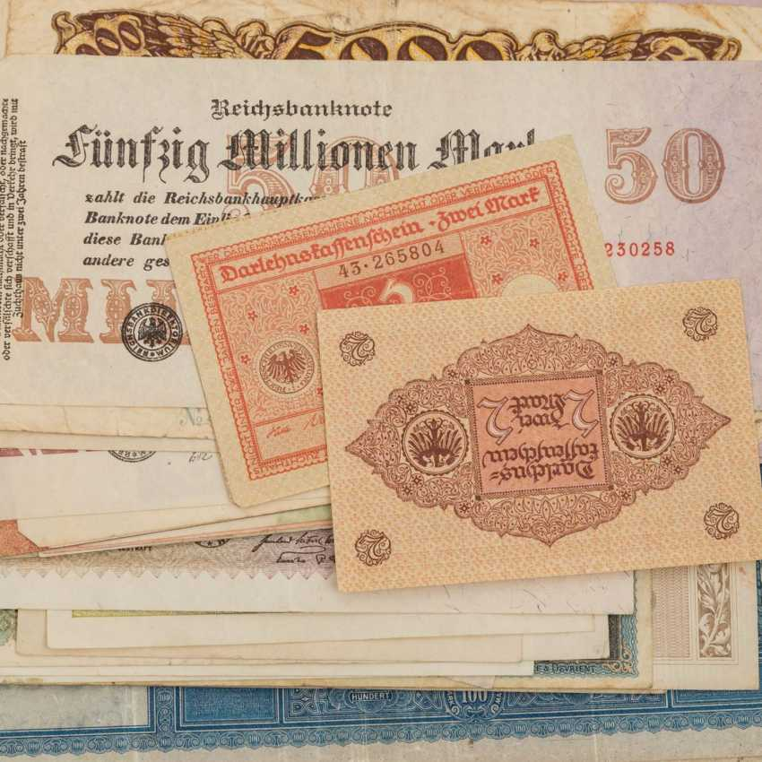 Historic banknotes Germany and Russia, 1. Half of the 20. Century. - - photo 2