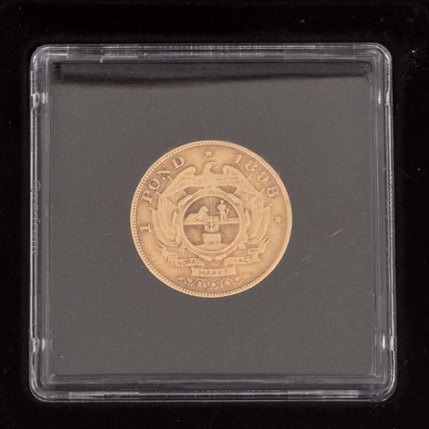South Africa/GOLD - 1 pound of 1898, - photo 3