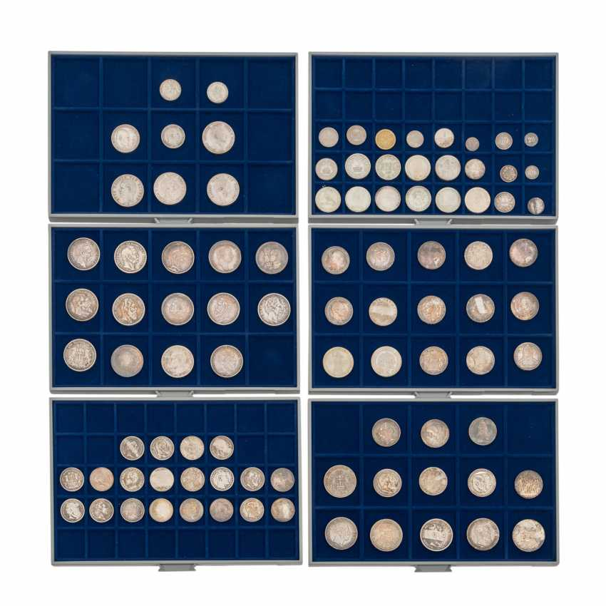 6 panels with coins of the Dt. The German Empire and the Weimar Republic - - photo 1