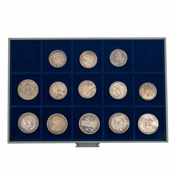 6 panels with coins of the Dt. The German Empire and the Weimar Republic - - photo 3