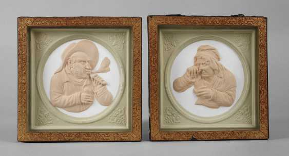 Pair Of Relief Plates - photo 1