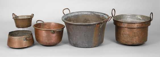 Five Copper Boilers - photo 1