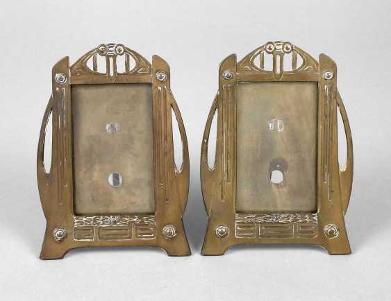 Pair Of Table Picture Frame Art Nouveau - photo 1
