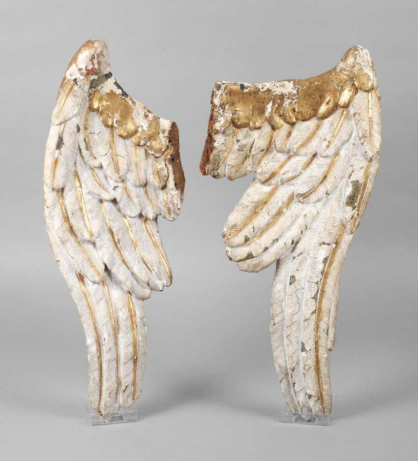 Pair of Baroque angels wings - photo 1