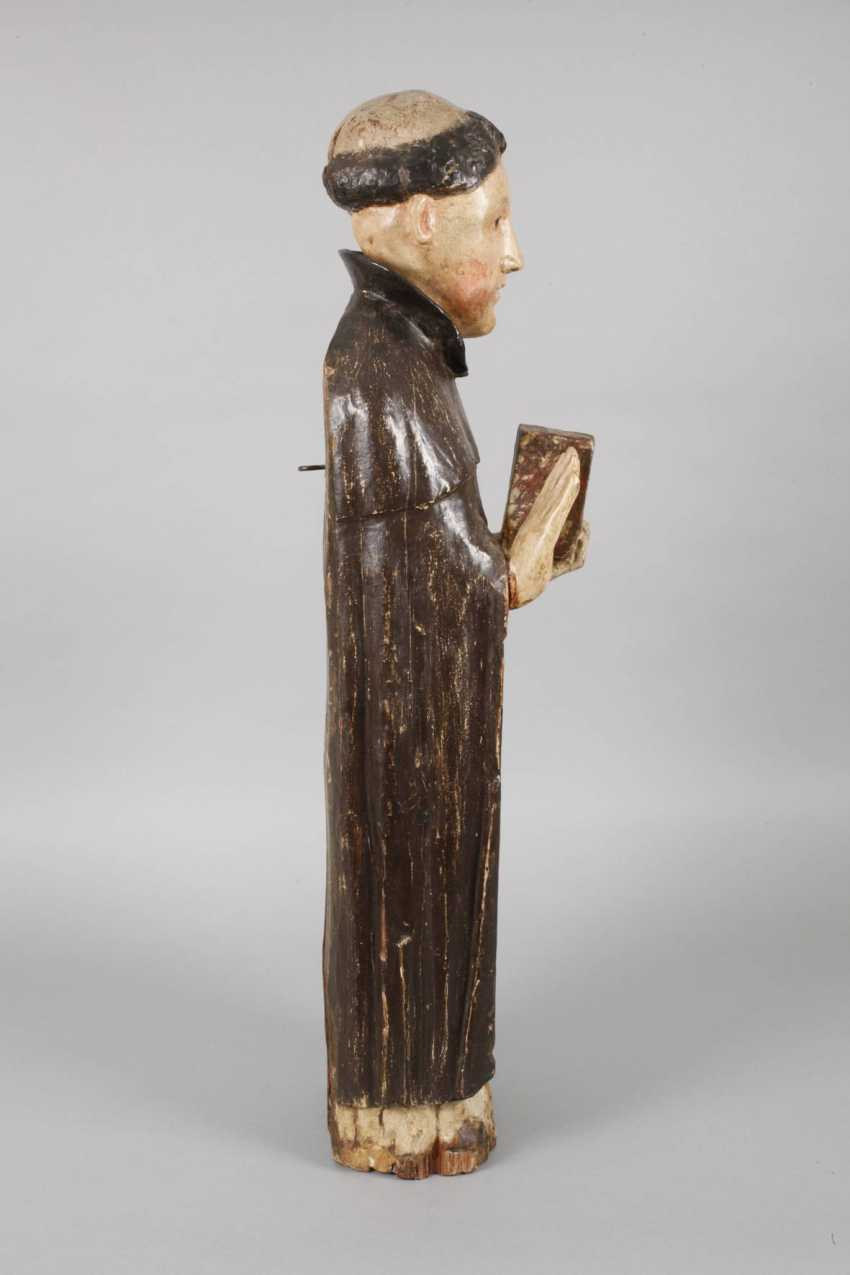 Carved Saint Statue In Case - photo 4