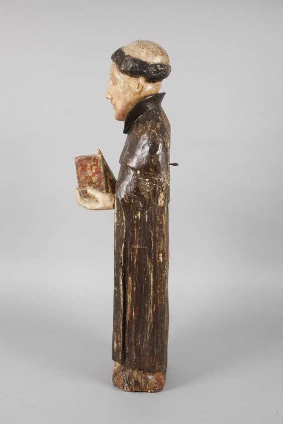 Carved Saint Statue In Case - photo 6