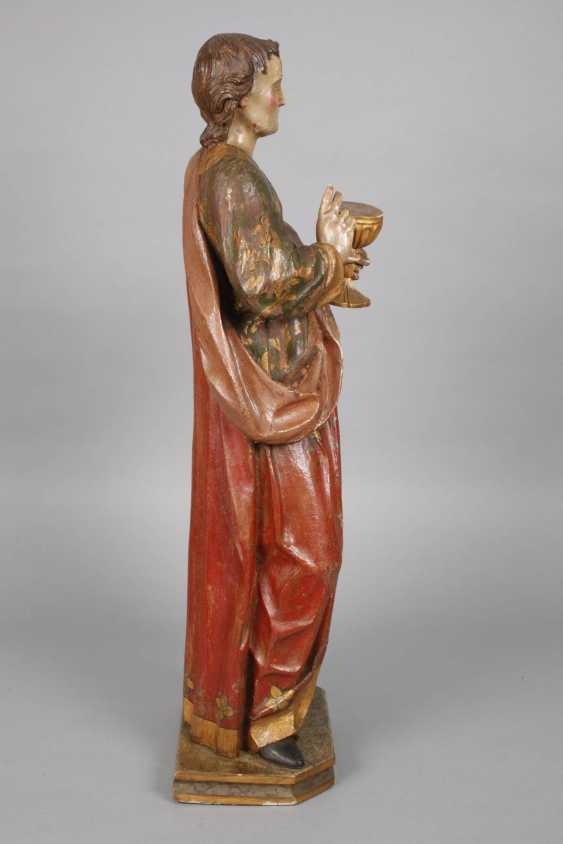 Large carved Saint statue in case - photo 2