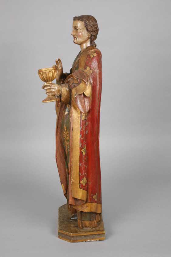 Large carved Saint statue in case - photo 4