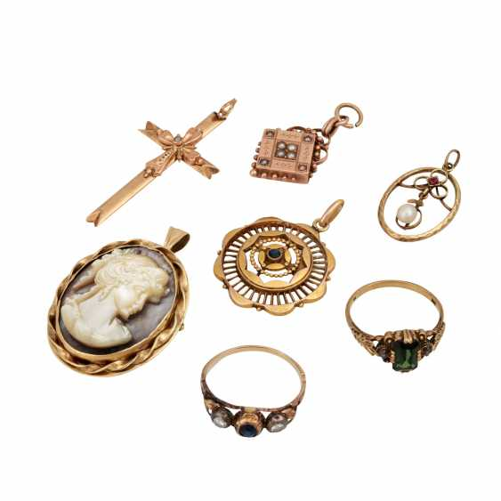 Jewelry mixed lot of 7 pieces, - photo 1