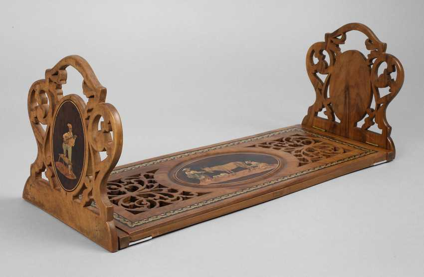 Book support with marquetry - photo 1