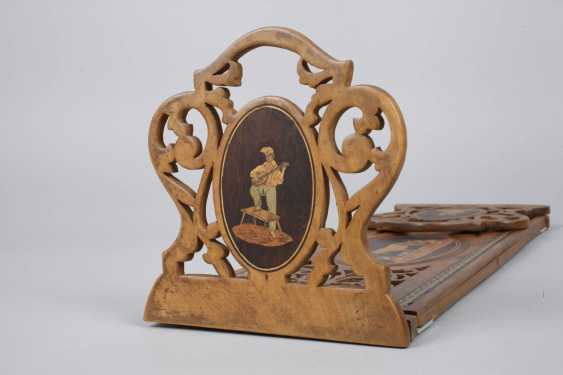Book support with marquetry - photo 4