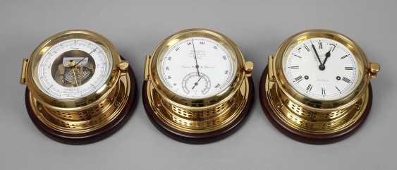 Ship hygrometer, Barometer and clock - photo 1