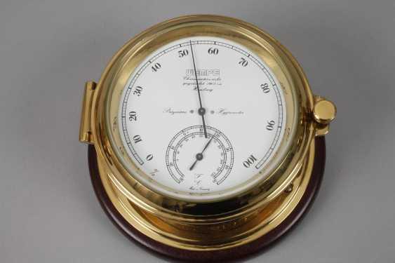 Ship hygrometer, Barometer and clock - photo 2