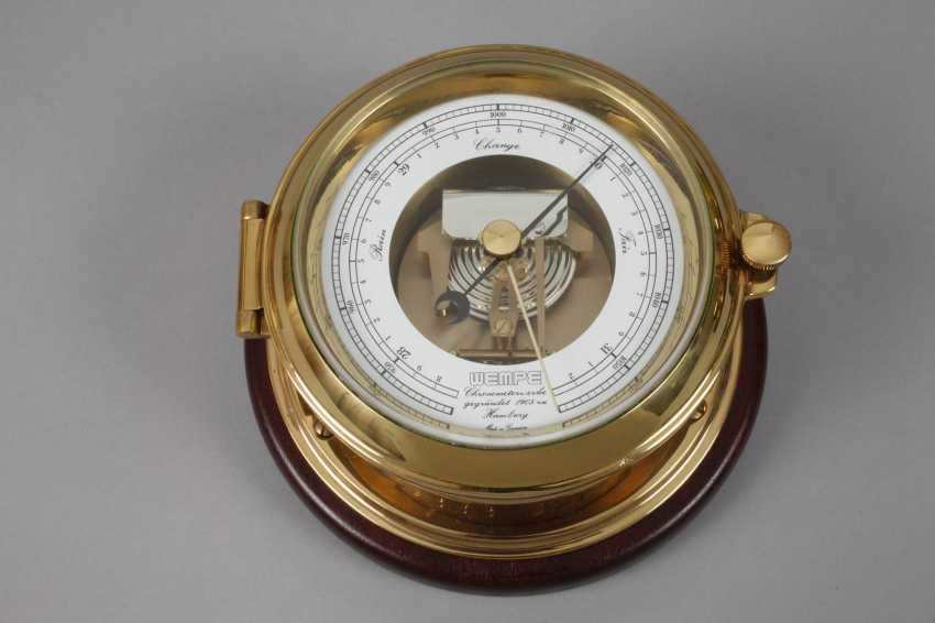 Ship hygrometer, Barometer and clock - photo 4