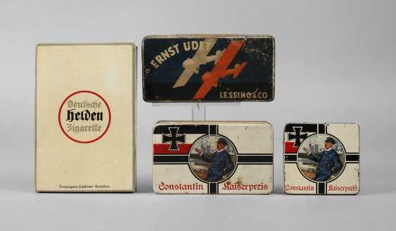Four Cigarette Tins - photo 1