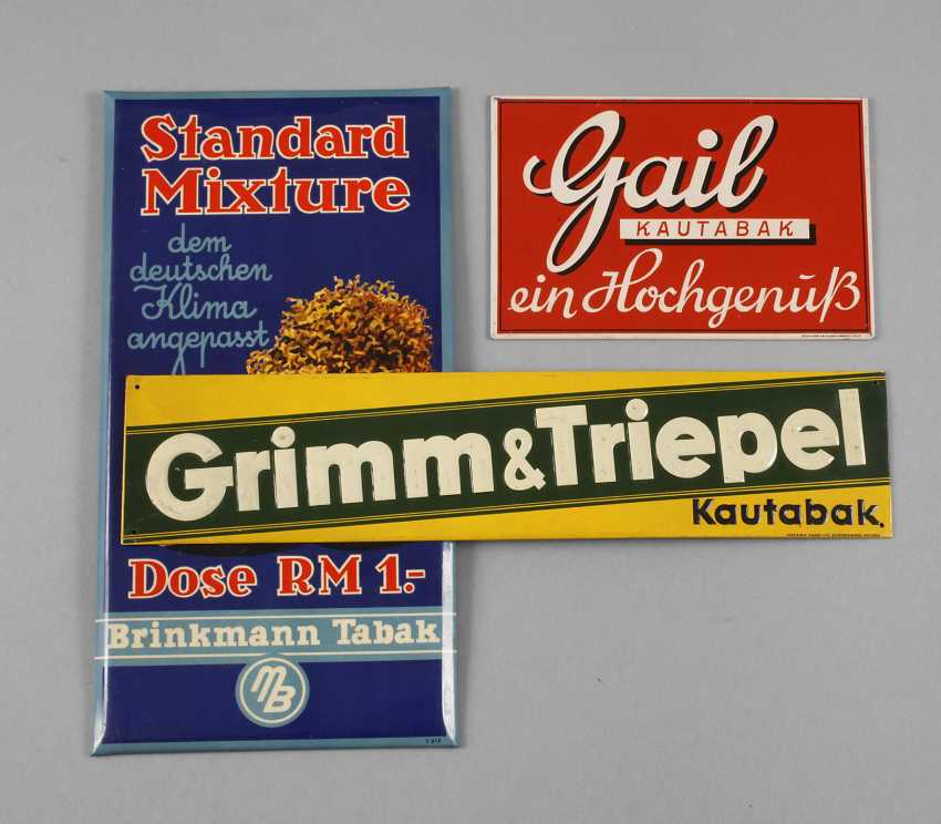 Three Advertising Signs - photo 1