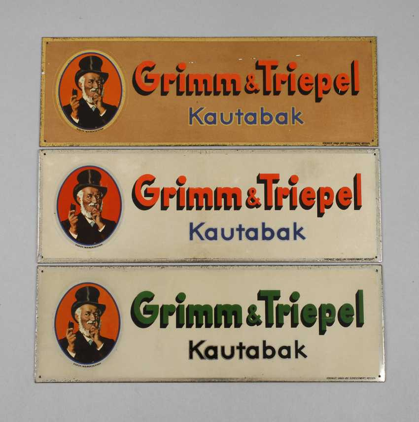 Three Advertising Signs, Grimm & Triepel - photo 1