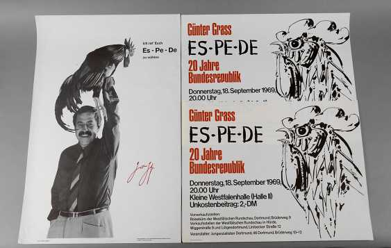 Günter Grass, three election posters - photo 1