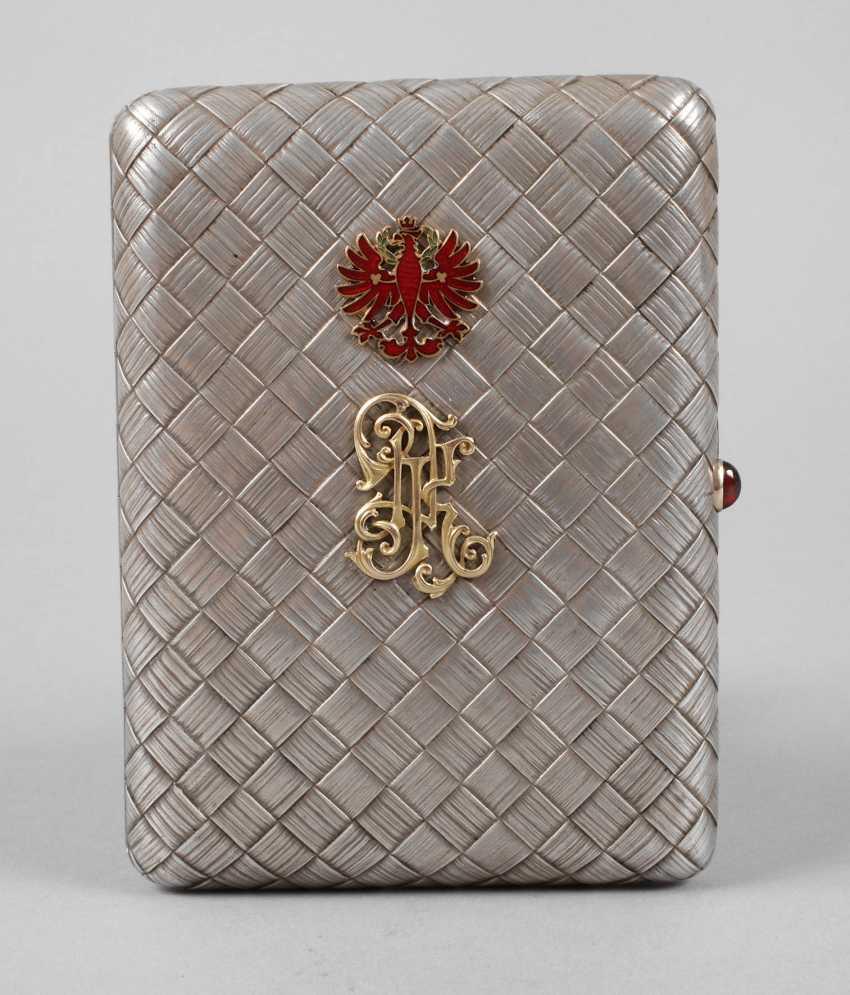 Silver massive cigarette case Russia - photo 1